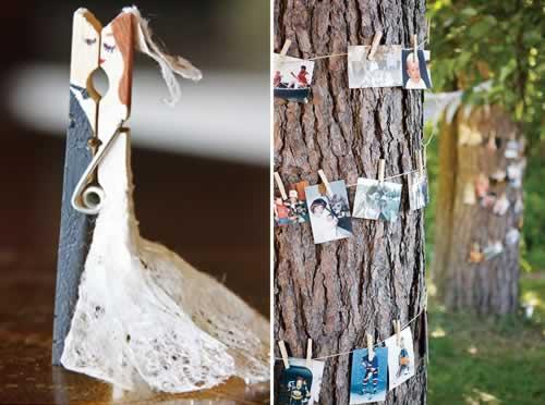 wasknijpers met bruidspaar