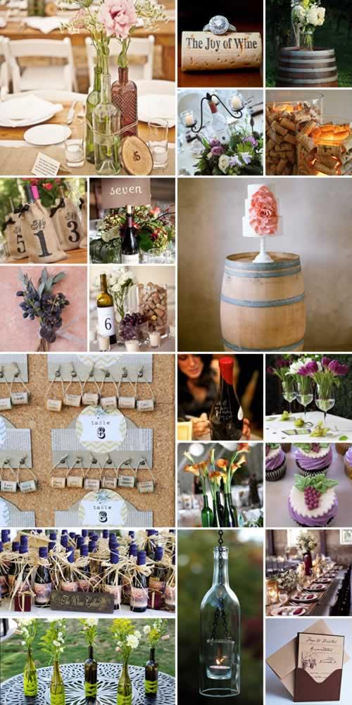 wijn thema bruiloft