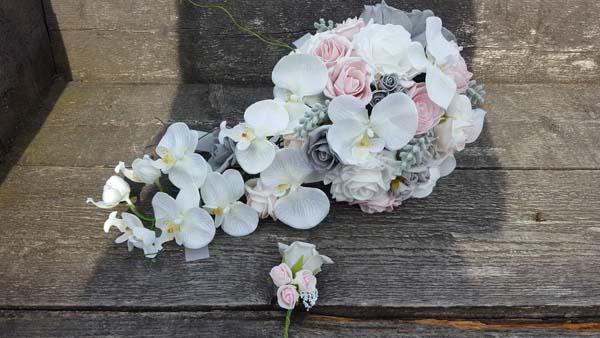 Zijden-orchidee-bruidsboeket