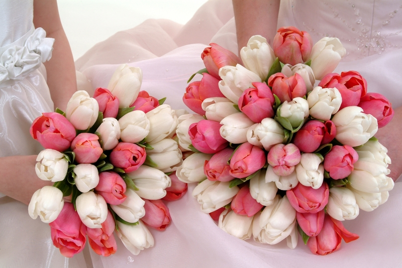 Tulpen als bruidsboeket en decoratie