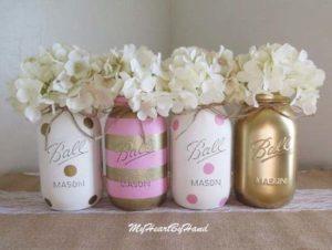 Roze goud bruiloft thema