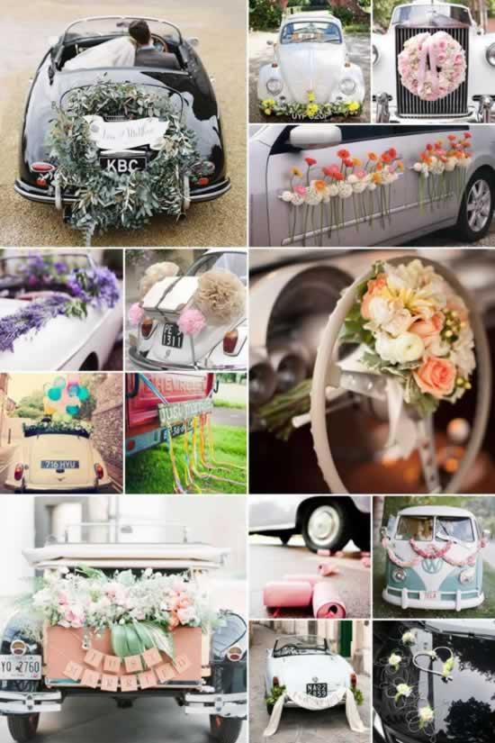 Versiering bruidsauto