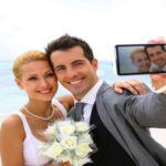 Selfies bruiloft