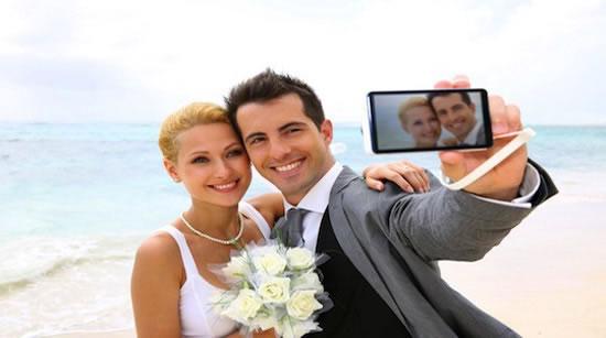 Selfies op je bruiloft