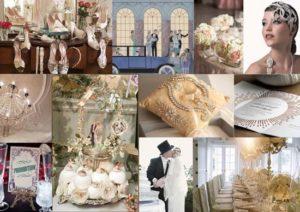 Vintage bruiloft Gatsby stijl