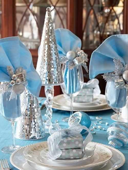 kerst decoratie blauw