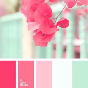 Mint roze kleurenpallet