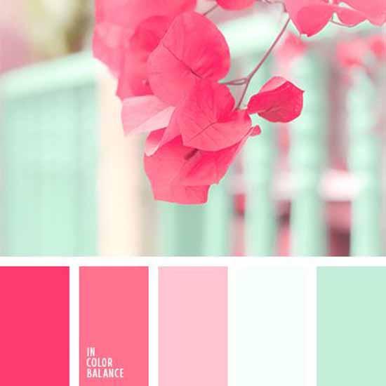 Zacht roze met mint thema bruiloft