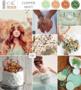 Koper kleur bruiloft