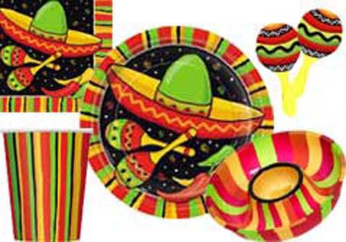 Mexicaans thema en hapjes bruiloft