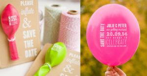 Trouwkaarten met ballon
