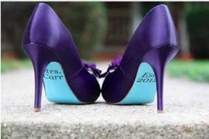 Boodschap onder je trouwschoenen