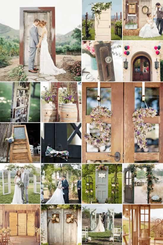 Deuren als decoratie bruiloft