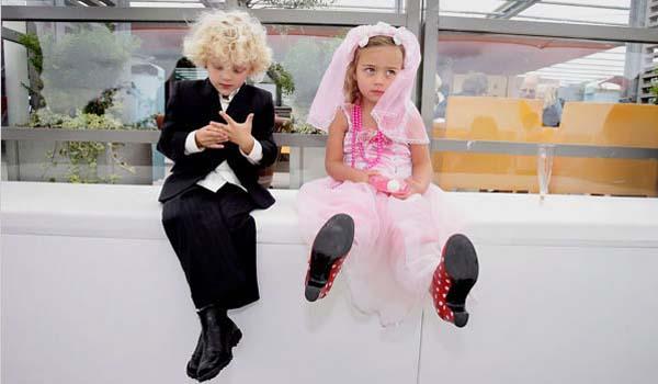 kindvrije bruiloft