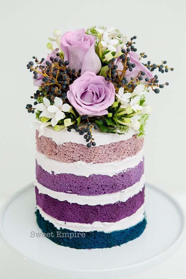 Bruidstaart-paars-blauw