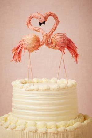 bruidstaart flamingo