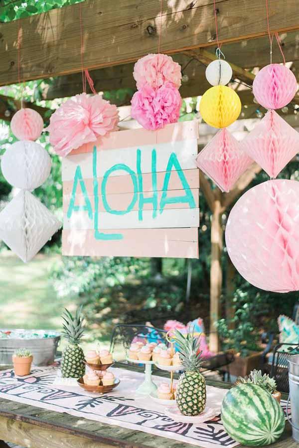 Decoratie bruiloft flamingo