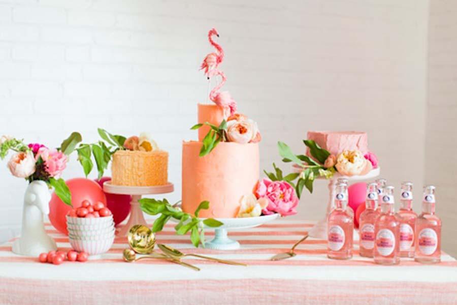 Een flamingo bruiloft thema