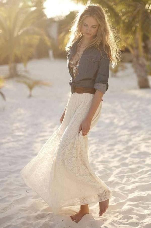 Jeansjasje voor strand bruiloft