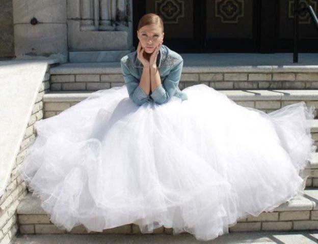 Jeans jasjes voor de bruid