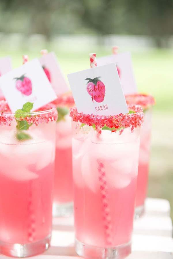 Roze-drankjes-bruiloft