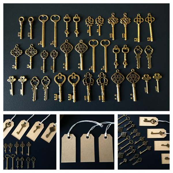 Oude sleutels bruiloft