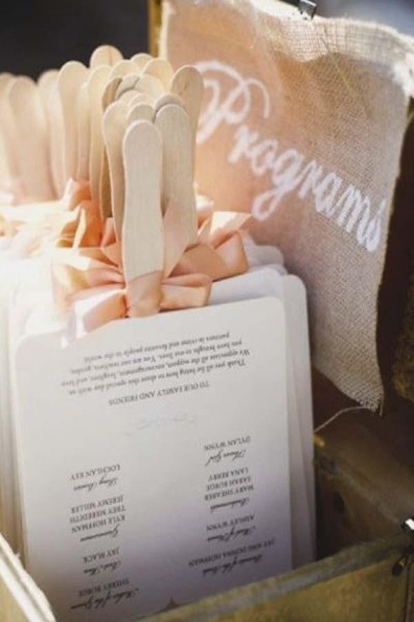 Programa-waaier-bruiloft