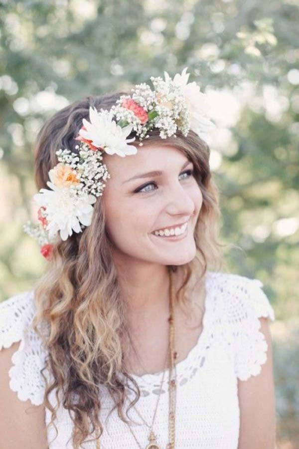 Bloemenkroon bruid