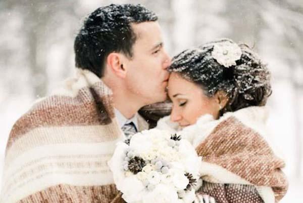winter bruiloft plaids