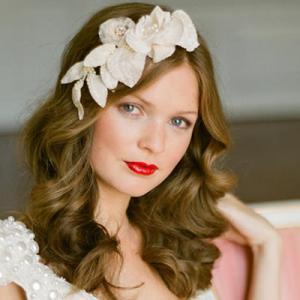 Haarband bruid bloemen