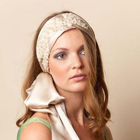 Haarband bruid satijn