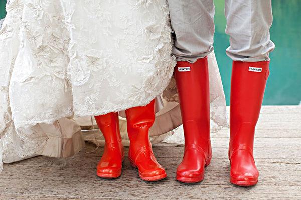 regenlaarzen bruiloft