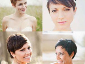 korte bruidskapsels