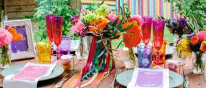 Een kleurrijk bruiloft thema