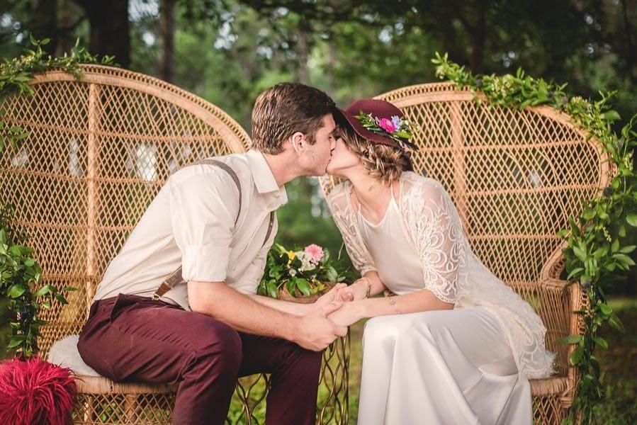 Bohemian bruiloft is de nieuwe rustiek