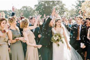 Geen handjes schudden bruiloft