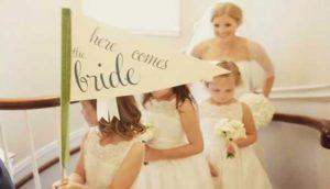 Aankondigingsvlaggen bruiloft