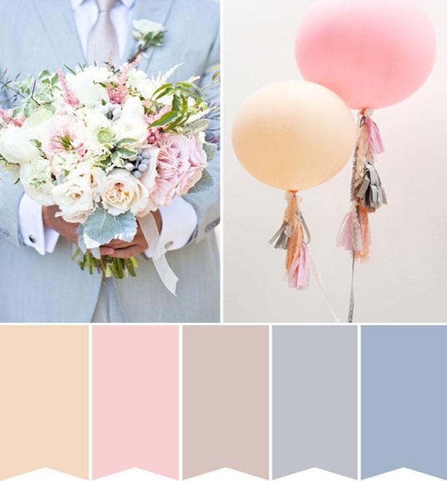 Kleuren inspiratie bruiloft