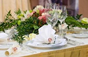 bruiloft diner