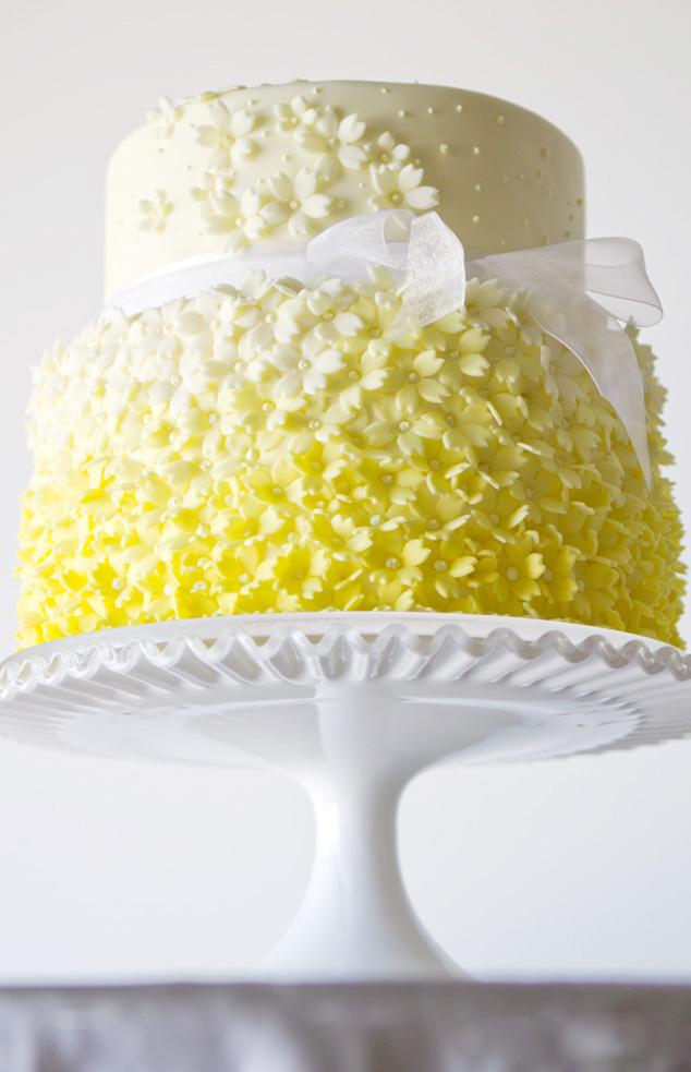 gele bruidstaarten