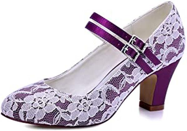 paarse trouwschoenen