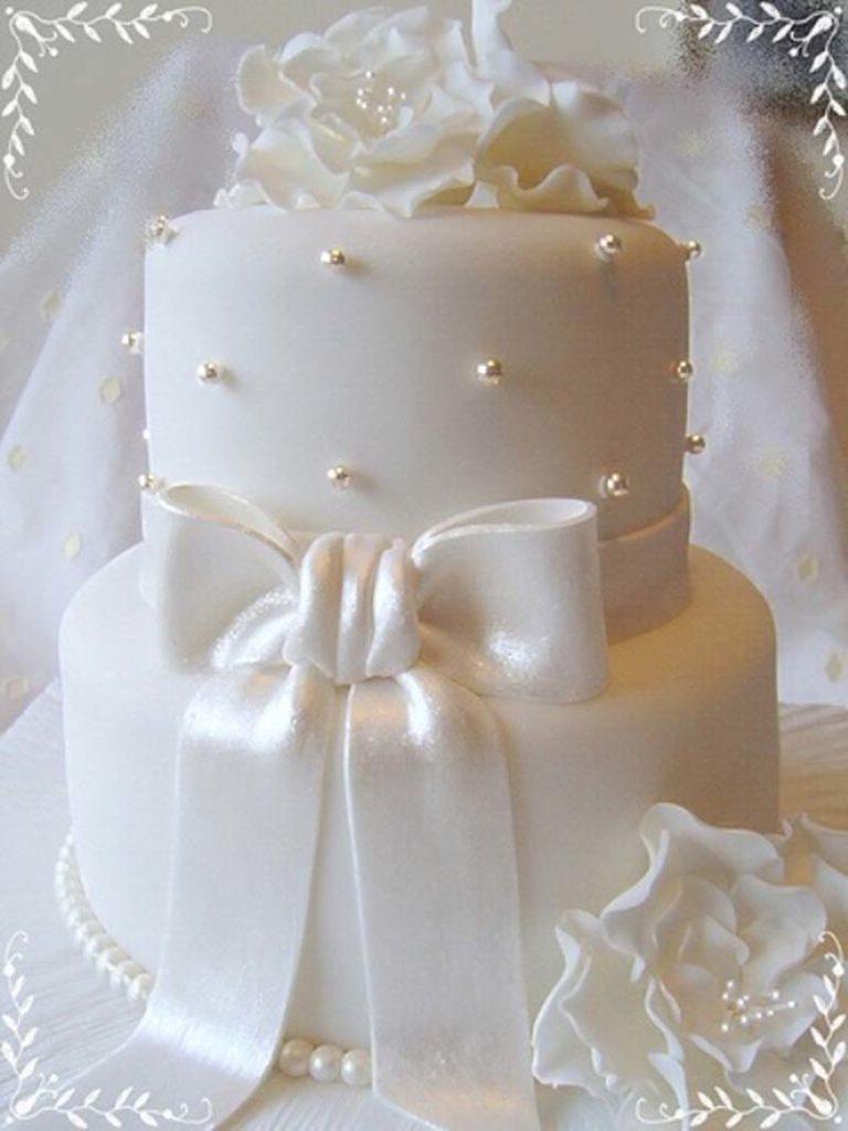 Witte-bruidstaarten