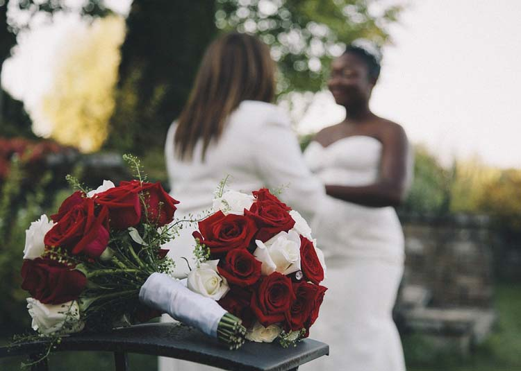 Bruidsboeket lesbische bruid