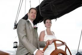 Trouwen zeilschip Ijsselmeer