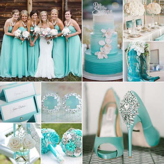 Aqua bruiloft thema