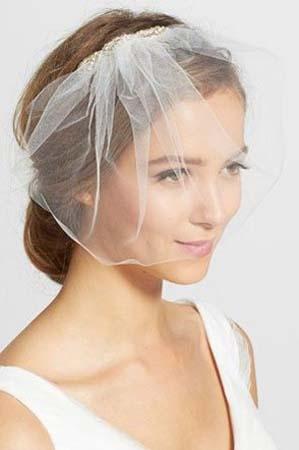 Simpele bruidssluier