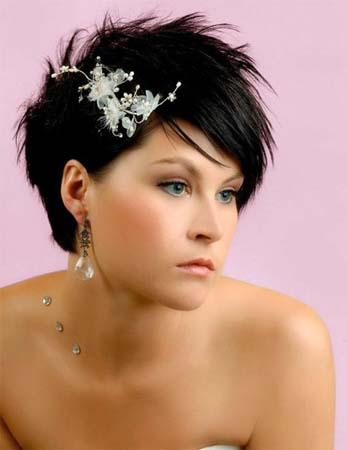 Haar sieraad bruid kort haar