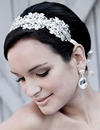 Haarband bruid kort haar