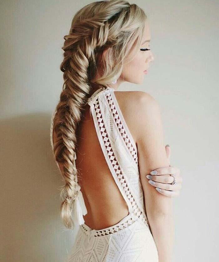 Simpele jurk met vlecht