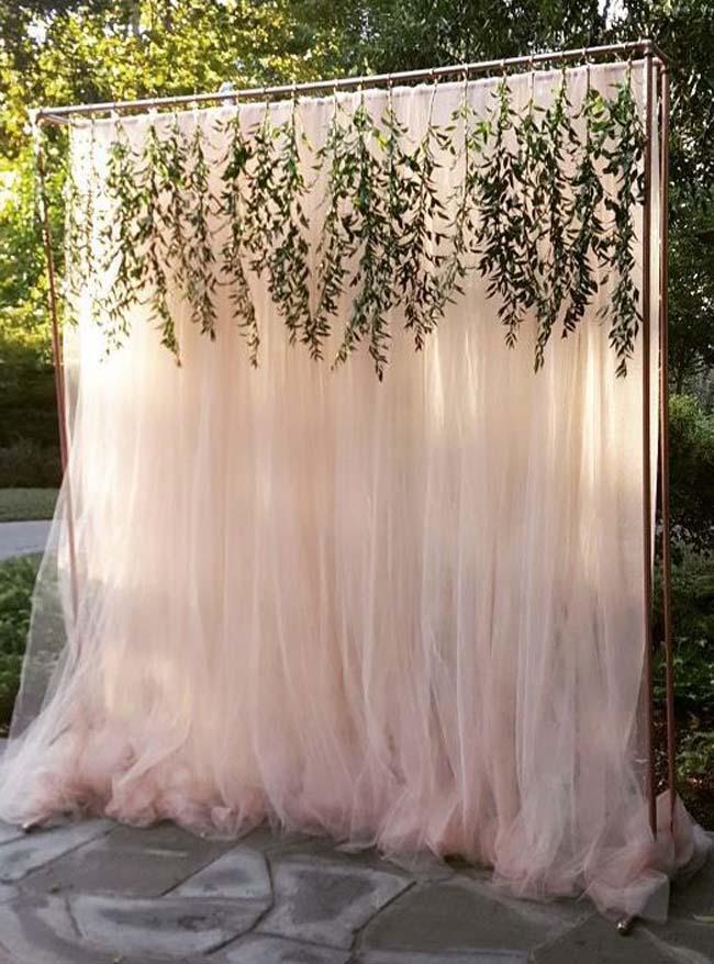 Draperen achtergrond bruiloft decoratie